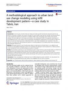 A methodological approach to urban land-use change modeling using ...