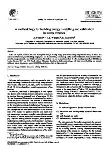A methodology for building energy modelling and calibration in warm ...
