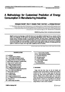 A Methodology for Customized Prediction of Energy ... - Springer Link