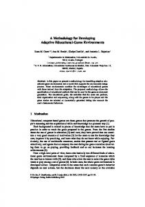 A Methodology for Developing Adaptive Educational-Game ...