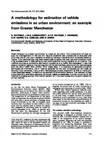 A methodology for estimation of vehicle emissions in ... - Springer Link