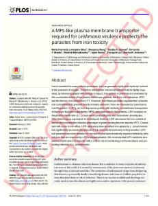 A MFS-like plasma membrane transporter required for ... - PLOS