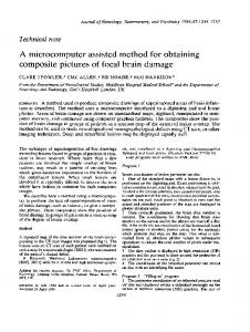 A microcomputer assisted method for obtaining ...