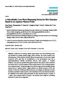 A Microfluidic Love-Wave Biosensing Device for PSA Detection ... - MDPI