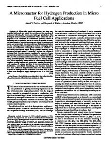 A Microreactor for Hydrogen Production in Micro Fuel Cell ... - Parc
