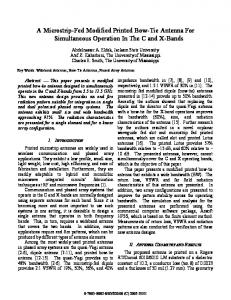 A Microstrip-Fed Modified Printed Bow-Tie Antenna - Semantic Scholar