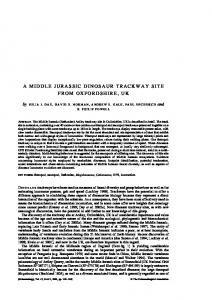 A Middle Jurassic dinosaur trackway site from ... - Wiley Online Library