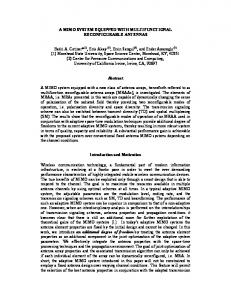 A MIMO SYSTEM EQUIPPED WITH ... - Semantic Scholar