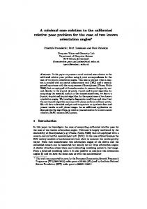 A minimal case solution to the calibrated relative pose problem for the ...