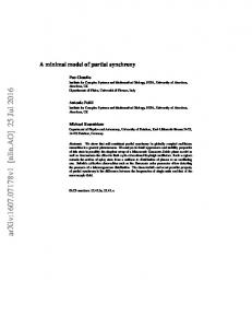 A minimal model of partial synchrony