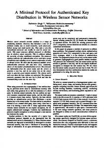 A Minimal Protocol for Authenticated Key ... - Semantic Scholar