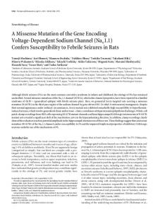 A Missense Mutation of the Gene Encoding ... - Semantic Scholar