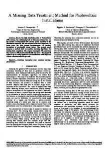 A Missing Data Treatment Method for Photovoltaic ...