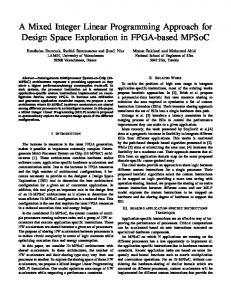 A Mixed Integer Linear Programming Approach for ... - IEEE Xplore