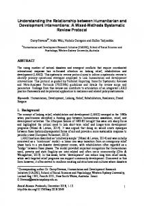 A Mixed-Methods Systematic Review Protocol