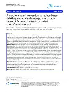 A mobile phone intervention to reduce binge drinking ... - Trials Journal