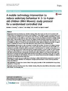 A mobile technology intervention to reduce sedentary ...