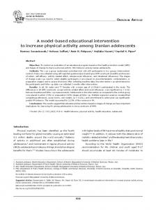 A model-based educational intervention to
