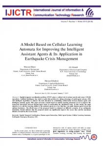 A Model Based on Cellular Learning Automata for ...