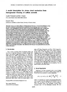 A model description for cirrus cloud nucleation ... - Wiley Online Library