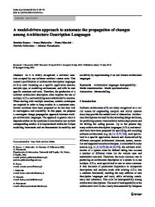 A model-driven approach to automate the propagation ... - Springer Link