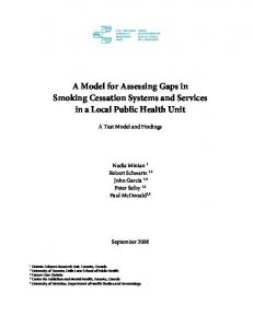 A Model for Assessing Gaps in Smoking Cessation Systems and ...