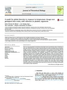 A model for global diversity in response to temperature ... - CORE