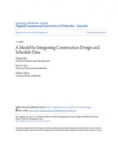A Model for Integrating Construction Design and