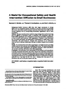 A model for occupational safety and health ... - Wiley Online Library