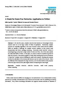 A Model for Scale-Free Networks: Application to Twitter - MDPI