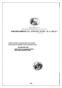 A model For The Appraisal Of The Environmental ... - AgEcon Search