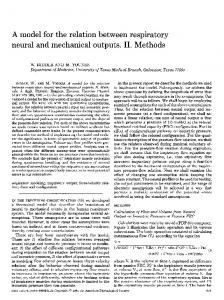 A model for the relation between respiratory neural and mechanical ...