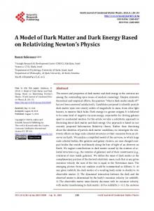 A Model of Dark Matter and Dark Energy Based on
