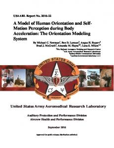 A Model of Human Orientation and Self- Motion ...
