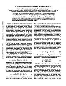 A Model Of Inflationary Cosmology Without Singularity