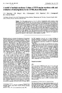 A model of multiple myeloma: Culture of 5T33 murine ... - BioMedSearch