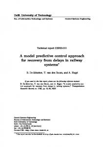 A model predictive control approach for recovery ... - Semantic Scholar