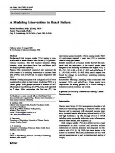 A Modeling Intervention in Heart Failure - Springer Link