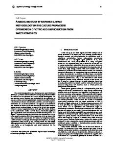 a modeling study by response surface methodology