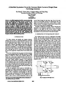 A Modified Equivalent Circuit for Common-Mode Current ... - IEEE Xplore