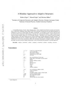 A Modular Approach to Adaptive Structures
