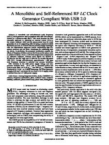 A Monolithic and Self-Referenced RF LC Clock ... - IEEE Xplore