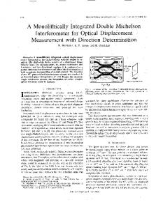 A Monolithically Integrated Double Michelson ... - IEEE Xplore