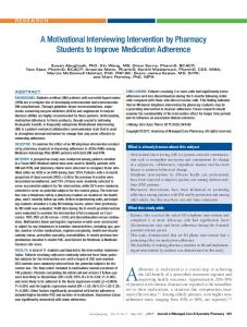 A Motivational Interviewing Intervention by Pharmacy Students ... - JMCP