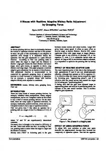 A Mouse with Realtime Adaptive Mickey Ratio Adjustment by Grasping ...