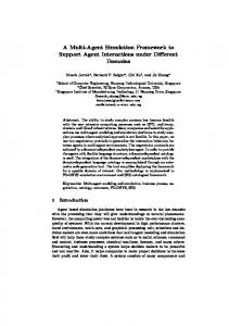 A Multi-Agent Simulation Framework to Support Agent Interactions ...