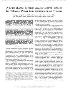 A Multi-channel Medium Access Control Protocol for Vehicular Power ...
