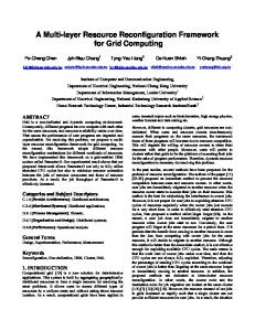 A Multi-layer Resource Reconfiguration Framework for Grid Computing