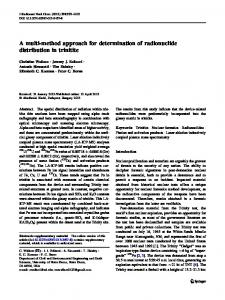A multi-method approach for determination of radionuclide distribution ...