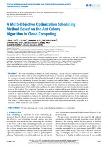 A Multi-Objective Optimization Scheduling Method ...
